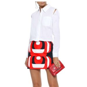 Milly NWT Cassie Blouse/Top, Sz.4, White FAB! $340